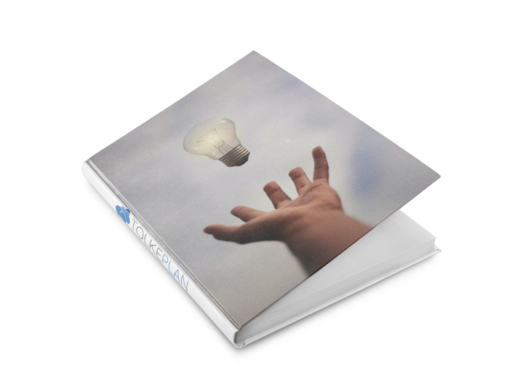 TolkePlan bog til FAQ visning. Viser at det er oplysende at læse FAQ til at løse egne spørgsmål.